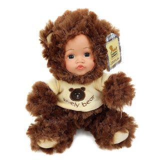 Мягкая игрушка медведь Fluffy Family Мой мишка искусственный мех пластик текстиль коричневый 6927346812408