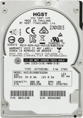 """Жесткий диск 2.5"""" 900Gb 10520rpm HGST C10K1800 SAS HUC101890CSS204"""