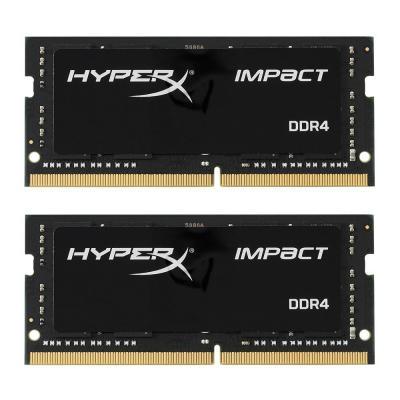 Оперативная память 32Gb (2x16Gb) PC4-19200 2400MHz DDR4 SO-DIMM CL14 Kingston HX424S14IBK2/32 kingston kvr21s15d8 8 ddr4 8гб pc4 17000 2133 so dimm