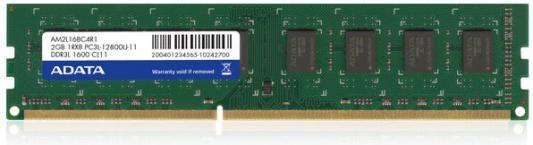 Оперативная память 2Gb PC3-12800 1600MHz DDR3 DIMM A-Data CL11 ADDU160022G11-R