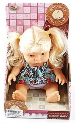Купить Кукла Shantou Gepai Good Baby 19 см со звуком 1388-4A, пластик, Классические куклы и пупсы