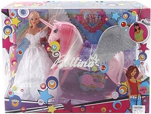 Игровой набор Shantou Gepai Кукла с единорогом 66658