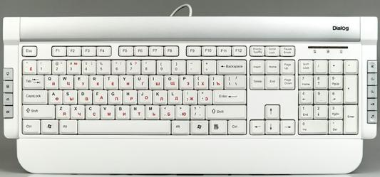 Клавиатура Dialog Katana KK-05U USB белый