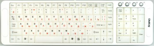 Клавиатура Dialog Katana KK-L04U USB белый набор dialog katana kmrok 0318u black