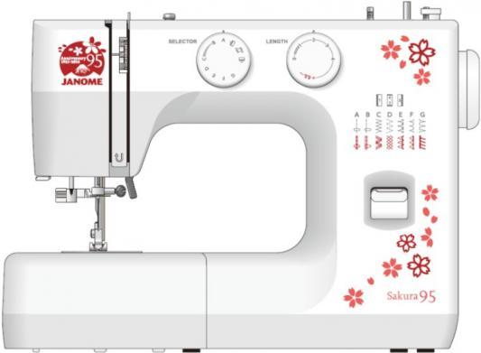 Швейная машина Janome Sakura 95 белый/цветы
