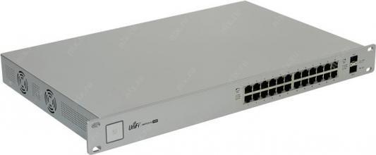 Коммутатор Ubiquiti UniFi Switch 24 управляемый UniFi 24 порта 10/100/1000Mbps 2xSFP US-24(EU) 12 ports usb hub 2 0 high quality usb2 0 hub splitter 2 switch with eu us power adapter for macbook air laptop pc computer e11