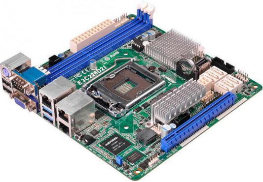 Мат. плата для ПК ASRock E3C226D2I Socket 1150 Intel C226 1xPCI 3xPCI-E 1x 6xSATA II 6xSATAIII mini-ITX OEM