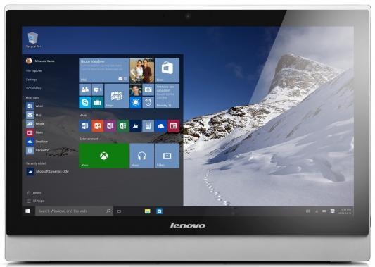 "Моноблок 23"" Lenovo S500z 1920 x 1080 Intel Core i5-6200U 4Gb 1Tb + 8 SSD Intel HD Graphics 520 64 Мб Windows 7 Professional + Windows 10 Professional черный серебристый 10K30028RU"