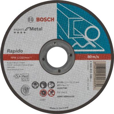 Отрезной круг Bosch 125х1мм по металлу 2608603396 отрезной круг bosch 125х1мм по металлу 2608603396