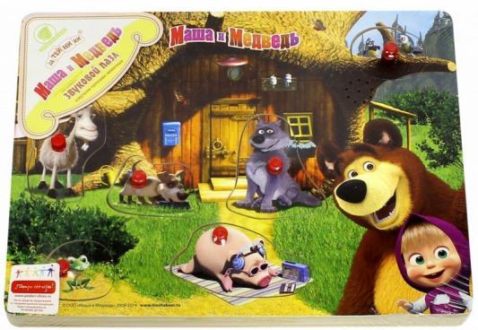 Пазл деревянный Маша и медведь озвученный голосами животных, дерево 6 элементов