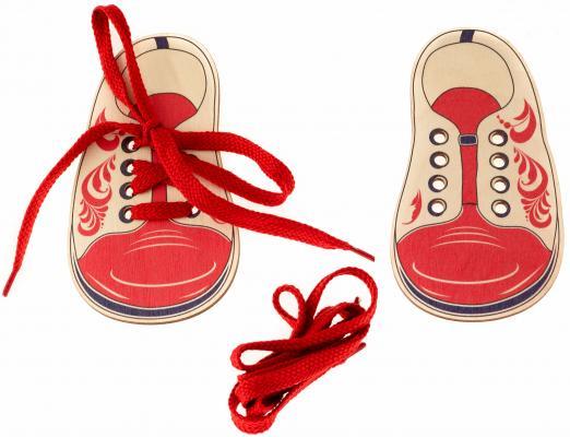 """Шнуровка Ботинки Русские деревянные игрушки """"Хохлома"""" Д428а фото"""