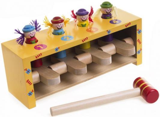 Набор с молоточком Mapacha Прыгающие клоуны 76540 деревянные игрушки mapacha игровой набор mapacha забей шарик