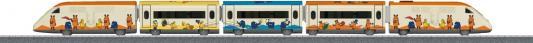 """Ж/д Marklin Пассажирский Поезд """"Mouse"""" Стартовый Набор, беспроводной ИК пульт, 3 скорости движения, вперед/назад, длина пути 112x76 см"""