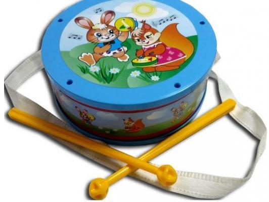 Купить Барабан АЭЛИТА 2С469, голубой, Детские музыкальные инструменты
