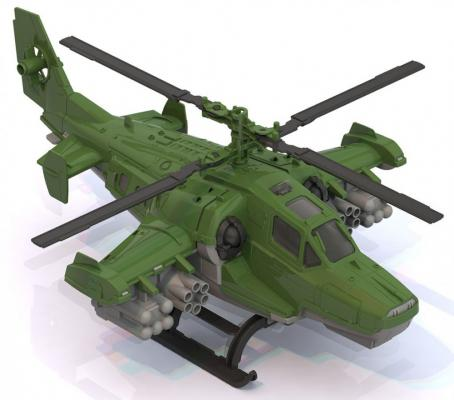 Вертолет Нордпласт 40 см зеленый ассортимент  247