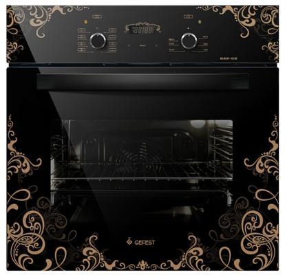 Электрический шкаф Gefest ДА 622-02 К19 черный с рисунком
