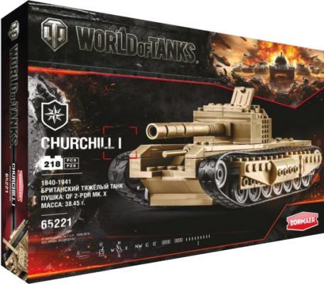 Конструктор Zormaer World of Tanks Churchill 218 элементов
