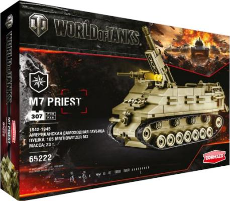 Конструктор Zormaer World of Tanks М7 Priest 307 элементов