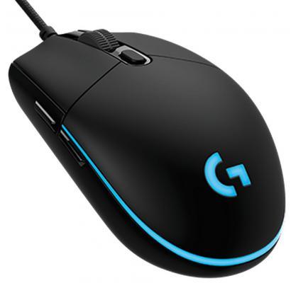 все цены на  Мышь проводная Logitech Gaming Mouse G PRO чёрный USB 910-004856  онлайн
