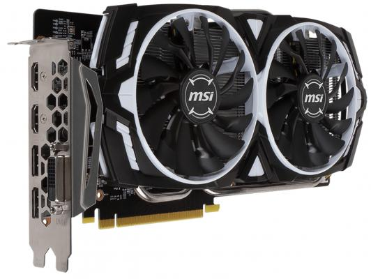 Видеокарта 3072Mb MSI GeForce GTX 1060 ARMOR 3G OCV1 PCI-E 192bit GDDR5 DVI HDMI DP GTX 1060 ARMOR 3G OCV1 Retail