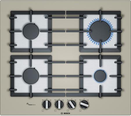 Варочная панель газовая Bosch PPP6A8B90 кварцевый металлик bosch ppp 616 b 90 e в украине