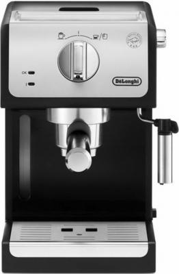 Кофеварка DeLonghi ECP 33.21 серебристый/черный кофемашина delonghi ecam 45 760 w белый
