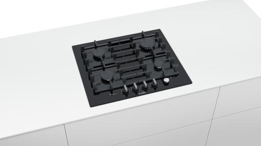 Варочная панель газовая Bosch PPP6A6M90R черный варочная панель bosch pkf651fp1e