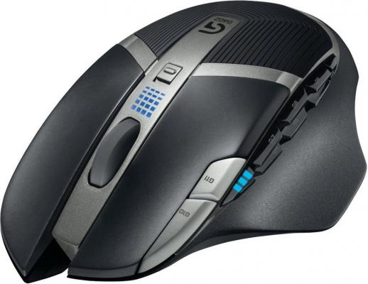 Мышь беспроводная Logitech G602 Wireless Gaming Mouse-2.4GHZ-EER2 чёрный USB 910-003822 мышь 910 003822 logitech g602 wireless gaming mouse