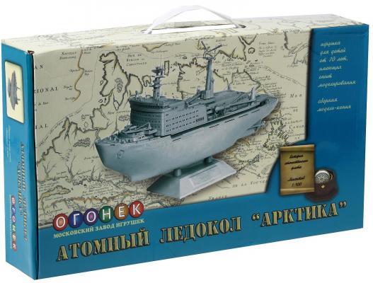 Корабль Огонек Атомный ледокол Арктика С-288 1:400 серый кремлев с атомный конструктор 1
