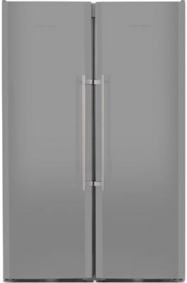 Холодильник Side by Side Liebherr SBSes 7253-24 001 серебристый холодильник side by side samsung rs552nrua9m