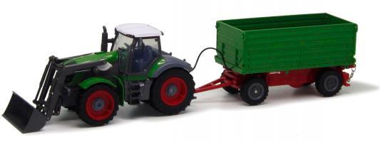 Трактор с ковшом Пламенный Мотор зелёный от 6 лет пластик  87577 пламенный мотор машинка инерционная volvo пожарная охрана