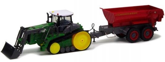 Трактор с ковшом Пламенный Мотор зелёный от 6 лет пластик  87575 пламенный мотор машинка инерционная volvo пожарная охрана