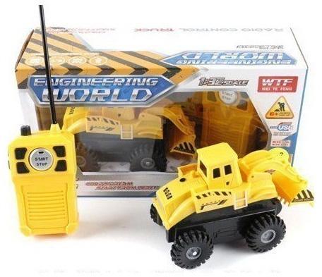 Машинка на радиоуправлении Shantou Gepai Стройка пластик от 6 лет желтый 911-B