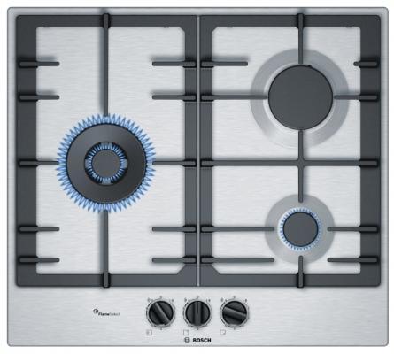 Варочная панель газовая Bosch PCC6A5B90 серебристый варочная панель bosch pkf651fp1e