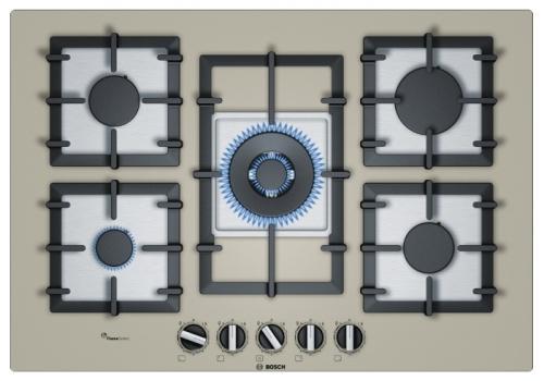 Варочная панель газовая Bosch PPQ7A8B90 кварцевый металлик варочная панель bosch pkf651fp1e