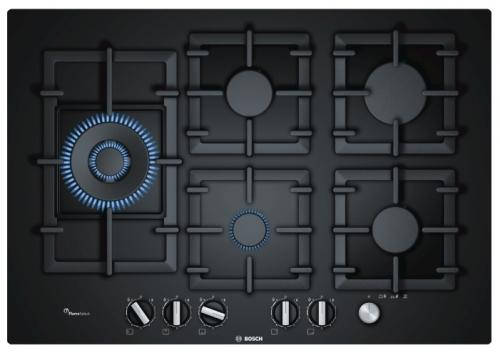Варочная панель газовая Bosch PPS7A6M90 черный варочная панель bosch pkf651fp1e