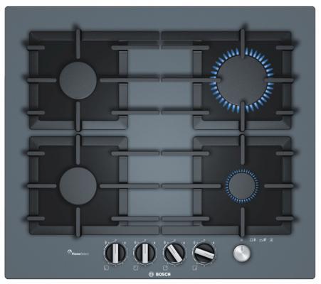 Варочная панель газовая Bosch PPP6A9M90 серый варочная панель bosch pkf651fp1e