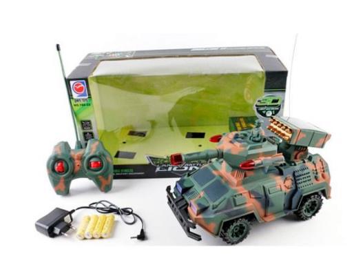 Военный автомобиль на радиоуправлении Shantou Gepai 168-22 пластик от 3 лет камуфляж 6927714158107