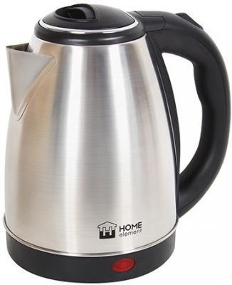 Чайник HOME ELEMENT HE-KT151 1800 Вт серебристый чёрный 1.7 л нержавеющая сталь