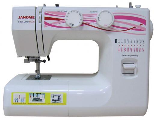 Швейная машина Janome Sew Line 500s белый