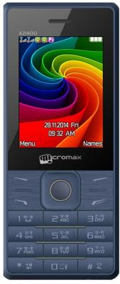 Мобильный телефон Micromax X2400 синий 2.4 мобильный телефон micromax x507