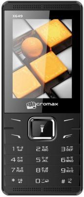 """Мобильный телефон Micromax X649 черный 2.4"""" 32 Мб"""