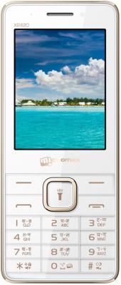 "Мобильный телефон Micromax X2420 белый шампань 2.4"""