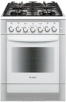 Комбинированная плита Gefest 6502-02 0042 белый комбинированная плита gefest пгэ 6502 03 0029