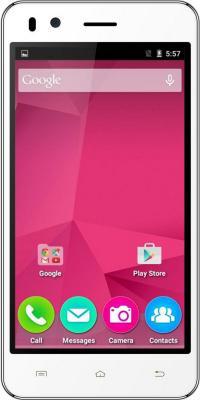 "Смартфон Micromax Q424 белый 4.5"" 8 Гб Wi-Fi GPS 3G"
