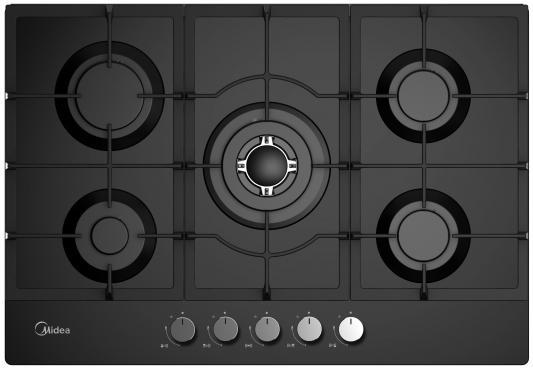 Варочная панель газовая Midea Q751GFD-BL черный