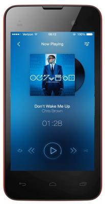 """Смартфон Micromax D306 красный 4"""" 4 Гб Wi-Fi GPS 3G"""