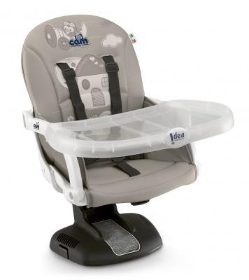 Купить Стульчик для кормления Cam Idea (цвет 227), серый, пластик, Стульчики для кормления
