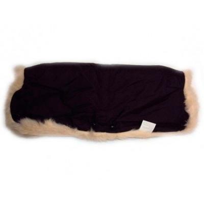Муфта для коляски из овчины с длинным ворсом Bozz (черный/натуральный/20-2018) конверт из стриженой овчины bozz черный серый 60 154 3
