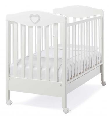 Кроватка Erbesi Cuoricino (белый)